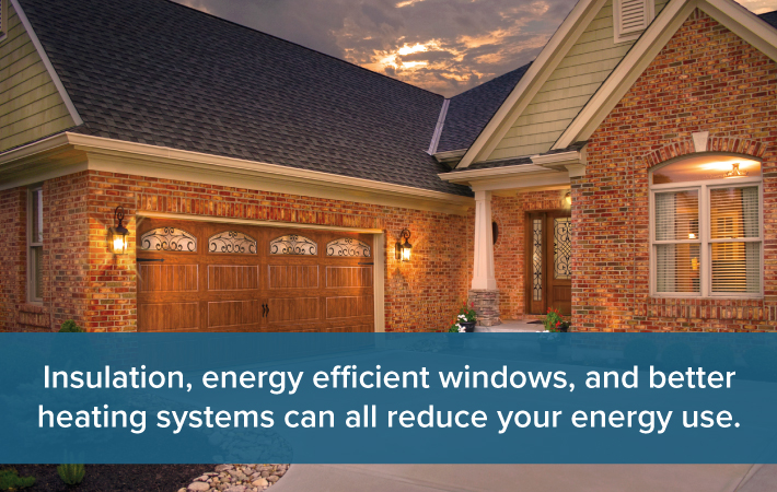energey efficient garage door impact energy bill Twin Cities