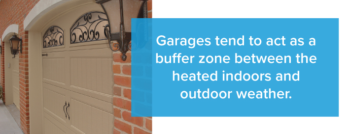 garage door buffer zone outdoors Twin Cities